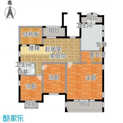 好世麒麟园A2二层户型3室1厅2卫