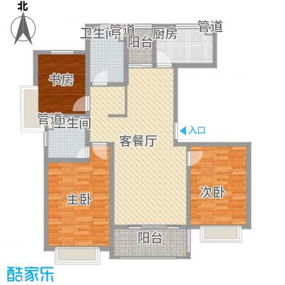 莲花河畔景苑124.00㎡B2户型3室2厅2卫1厨