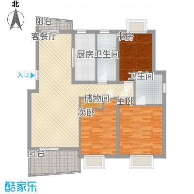 鑫都城云天绿洲上海户型3室2厅2卫1厨