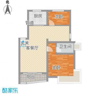 万兆东庭88.20㎡户型3室2厅1卫