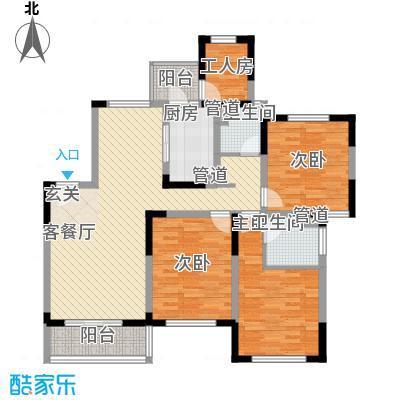 古北新城酩悦166136.71㎡C3户型3室2厅2卫1厨