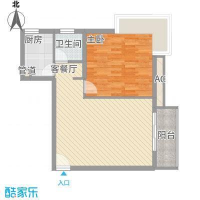 金沙丽晶苑72.00㎡上海翠逸丽晶()户型2室1厅1卫1厨