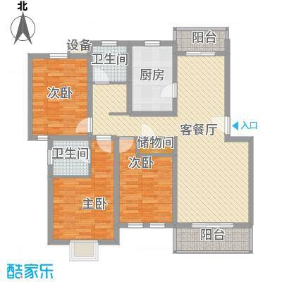成事高邸132.00㎡成事高邸132.00㎡3室2厅2卫户型3室2厅2卫