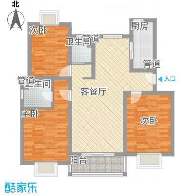 富浩河滨花园119.00㎡富浩河滨花园119.00㎡3室2厅1卫户型3室2厅1卫