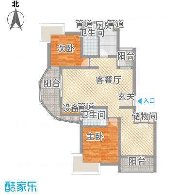 宏润韶光花园139.42㎡宏润韶光花园139.42㎡3室2厅2卫1厨户型3室2厅2卫1厨