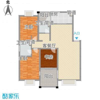 美兰湖颐景园137.27㎡美兰湖颐景园137.27㎡3室2厅2卫1厨户型3室2厅2卫1厨