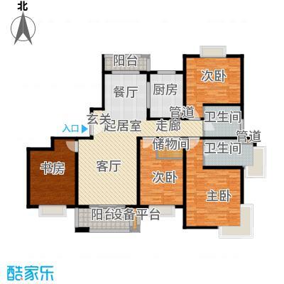 绿地崴廉公寓164.00㎡三期42#g2户型4室2厅2卫1厨