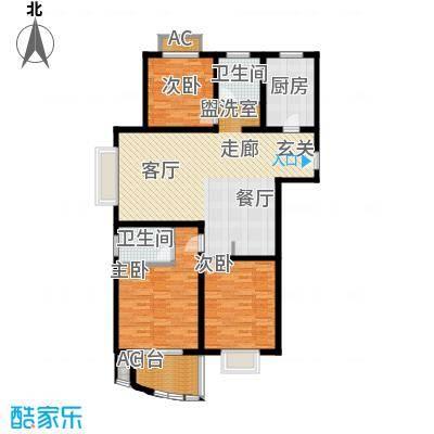 杉林新月家园119.36㎡上海户型3室2厅2卫1厨
