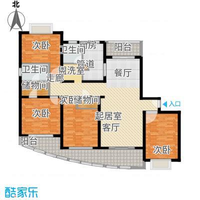 西郊玫瑰湾花园169.00㎡西郊玫瑰湾花园169.00㎡4室2厅2卫1厨户型4室2厅2卫1厨