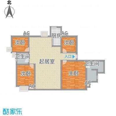 中宇花苑186.07㎡I户型2号楼25层户型4室2厅2卫1厨