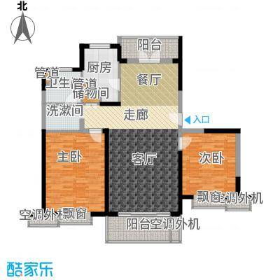 香杉园113.52㎡五号楼F房型户型3室