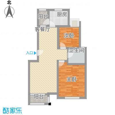 证大家园四期88.00㎡上海户型2室2厅1卫1厨