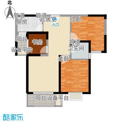 卓越世纪中心公寓101.00㎡C3户型2室2厅1卫1厨