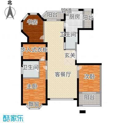 浦江公馆194.07㎡户型3室2厅2卫