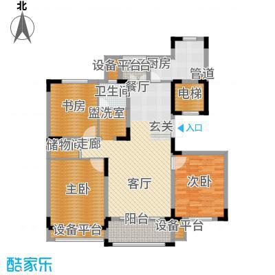 赞成红树林122.33㎡D2-1户型3室2厅1卫1厨