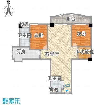静安艺庭155.45㎡B户型3室