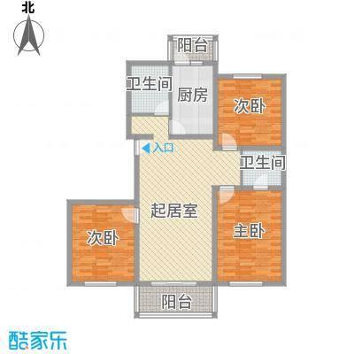 祥和尊邸120.51㎡上海户型3室1厅1卫1厨