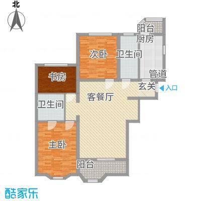 瑞南新苑134.49㎡瑞南新苑134.49㎡3室1厅2卫1厨户型3室1厅2卫1厨