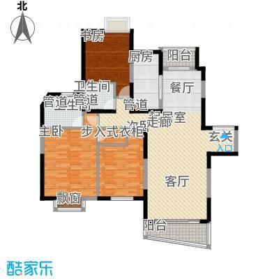 东鼎名门131.90㎡J户型3室2厅2卫1厨