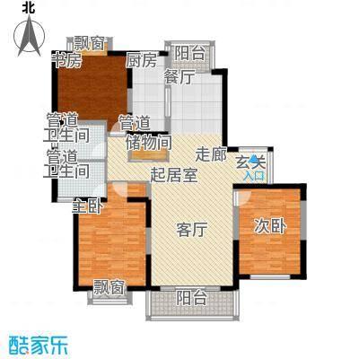 东鼎名门135.36㎡L户型3室2厅2卫1厨