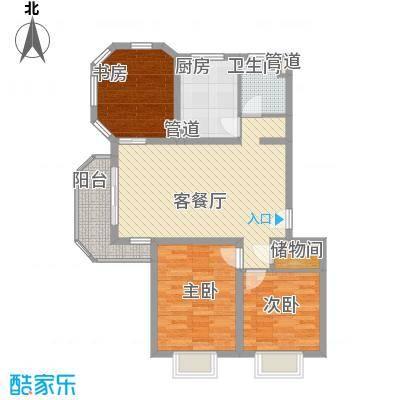 大华颐和华城108.27㎡户型3室2厅1卫1厨