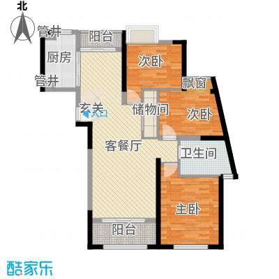 银领公寓120.85㎡户型3室2厅1卫1厨