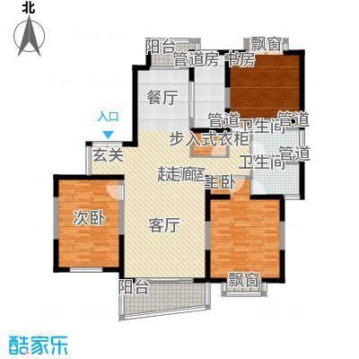 东鼎名门137.61㎡G户型3室2厅2卫1厨