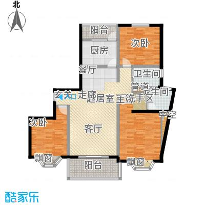 宏润公寓131.31㎡宏润公寓131.31㎡3室2厅2卫1厨户型3室2厅2卫1厨