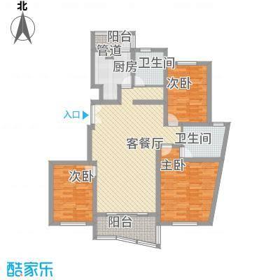 金龙东苑132.07㎡金龙东苑132.07㎡3室2厅2卫1厨户型3室2厅2卫1厨