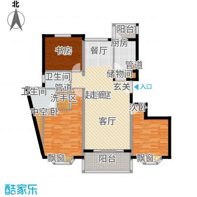 宏润公寓127.32㎡宏润公寓127.32㎡3室2厅2卫1厨户型3室2厅2卫1厨
