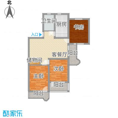 由由园中苑117.44㎡由由园中苑117.44㎡3室1厅1卫1厨户型3室1厅1卫1厨