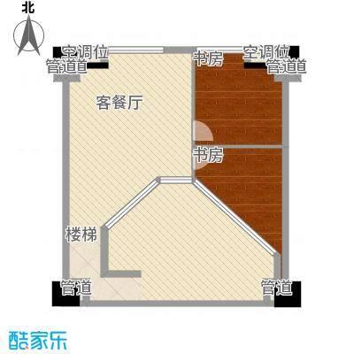 中茂世纪财富广场110.00㎡C户型二层户型3室2厅1卫