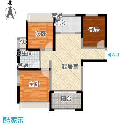 绿地卡米小城89.38㎡89.38㎡A-1户型3室2厅1卫1厨