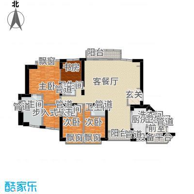 中粮海景壹号340.24㎡4房户型4室2厅4卫1厨