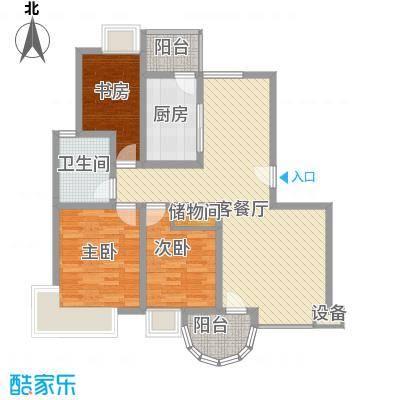 宝林春天苑申江远景上海宝林春天苑户型3室2厅1卫1厨