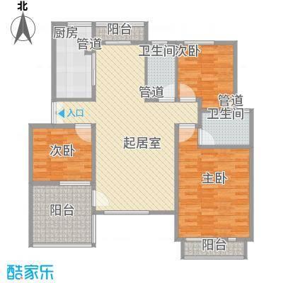 顺驰美兰116.00㎡H1-D型户型3室2厅2卫1厨