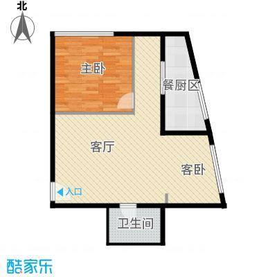 新城市广场83.25㎡户型1室1厅1卫