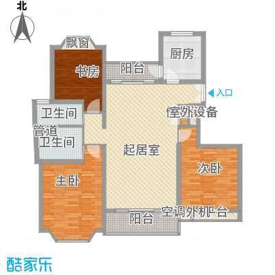 郁庭峰120.40㎡郁庭峰120.40㎡3室2厅2卫1厨户型3室2厅2卫1厨