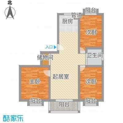 安康新村109.67㎡上海户型3室1厅1卫1厨