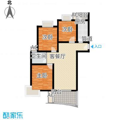 金梅雅苑112.00㎡户型3室2厅1卫