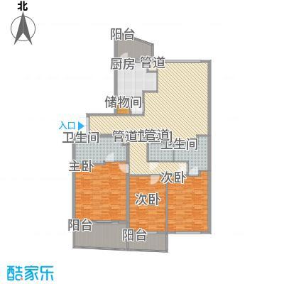 瑞苑公寓227.00㎡三房户型3室2厅3卫