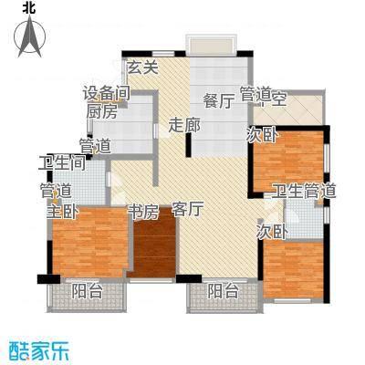 康桥半岛国际公寓161.99㎡E1户型3室2厅2卫