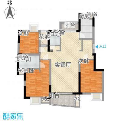 大华锦绣华城公园新纪130.00㎡E户型3室2厅2卫1厨