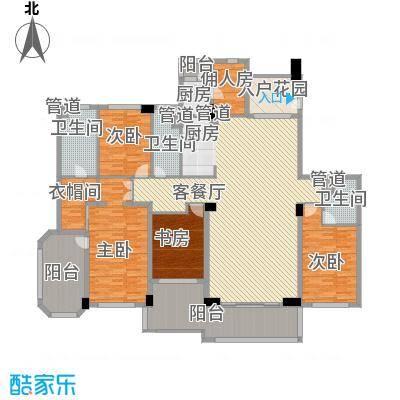 建发江湾萃珺邸275.00㎡一期四居室户型4室2厅2卫1厨