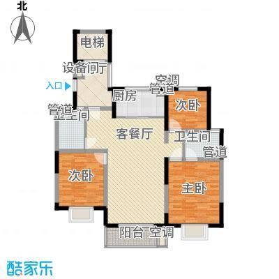 地安汉城国际132.00㎡G2户型3室2厅2卫1厨