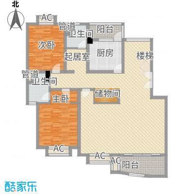 璞俪公馆180.02㎡18号楼G户型3层户型3室3厅3卫1厨