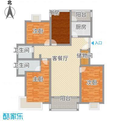 绿洲尧舜公寓168.08㎡绿洲尧舜公寓168.08㎡4室2厅1卫1厨户型4室2厅1卫1厨
