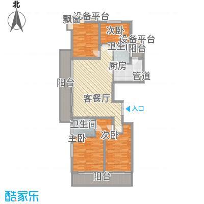 大唐盛世花园168.44㎡大唐盛世花园168.44㎡4室2厅2卫1厨户型4室2厅2卫1厨
