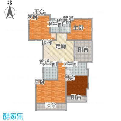 堤亚纳昱墅310.00㎡C1户型二层户型5室3厅4卫1厨