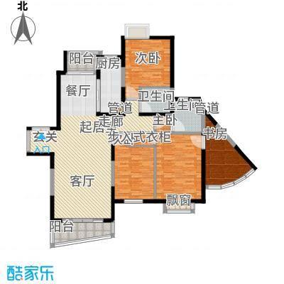 东鼎名门143.49㎡K户型4室2厅2卫1厨